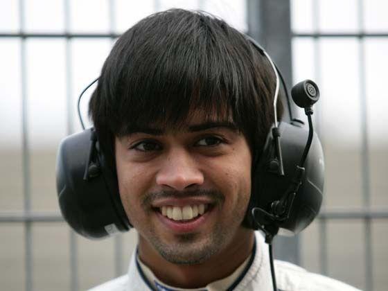 Aditya Patel testing at Oschersleben, Germany