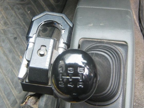 Gear Stick Lock The Gear Lock Comes With a