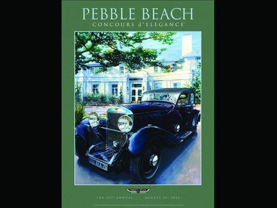 2012 Pebble Beach poster