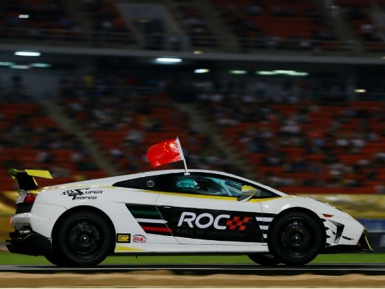 Lamborghini Gallardo Super Trofeo at the 2012 Race Of Champions