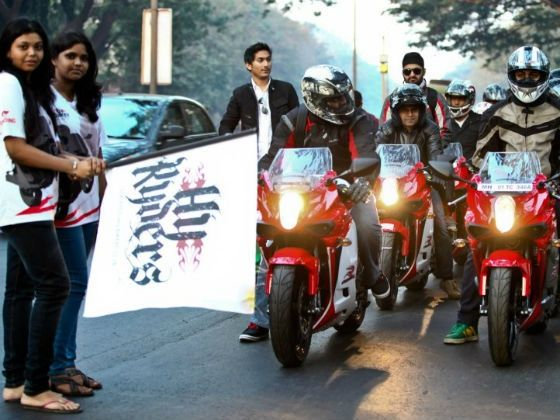 The ride being flagged off from Mumbai