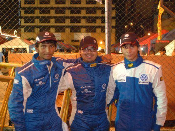 Munjal Savla Ameya Bafna Sandeep Kumar at 2012 Colombo Night Races