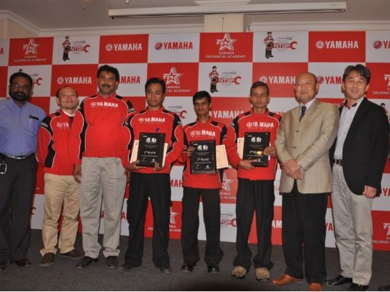 Winners with the Yamaha officials