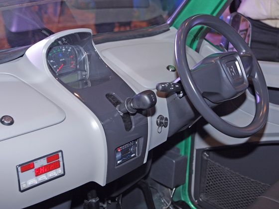 On the inside, the RE60 base model comes with an integrated digital fare meter in the dashboard