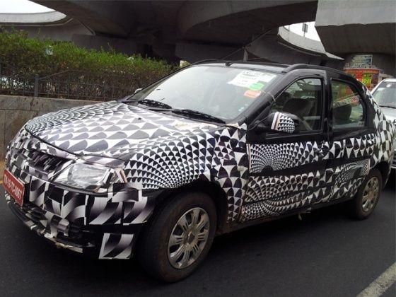 Mahindra Verito facelift spied