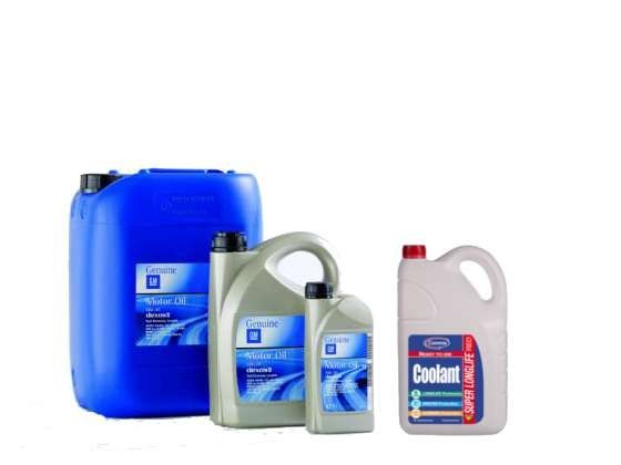 Engine oil and coolant