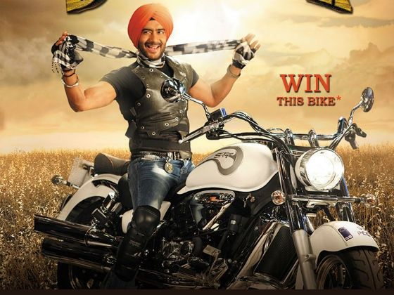 Ajay Devgn on a ST7 for Son Of Sardar contest