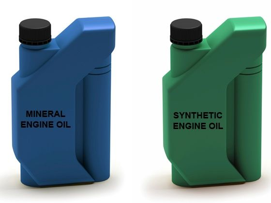 Mineral engine oil vs. Synthetic engine oil