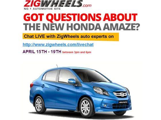 Honda Amaze live chat