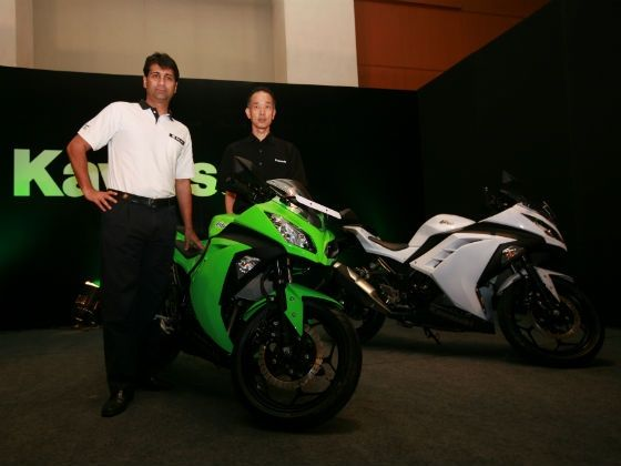 Rajij Bajaj posing with the Kawasaki Ninja 300