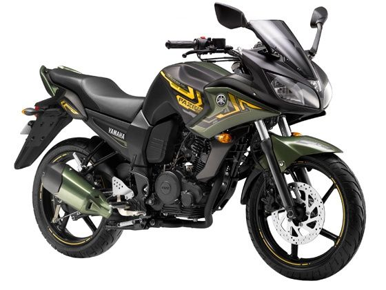 Yamaha Fazer limited edition battle green shade