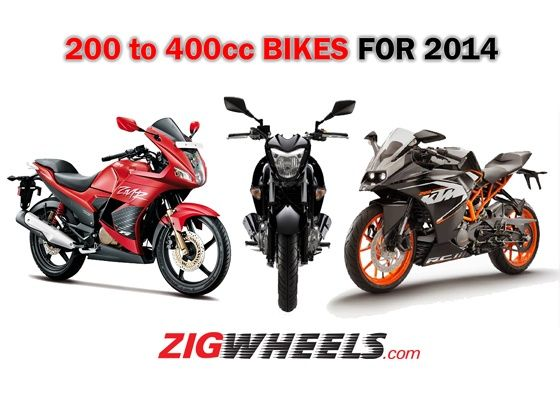 Affordable performance motorcycles for 2014 200 to 400cc