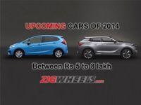 Upcoming cars between 5-8 Lakh