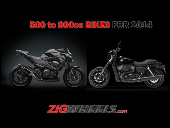 Middleweight Motorcycles for 2014 (500-800cc)