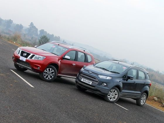 Ford EcoSport diesel Nissan Terrano diesel comparison