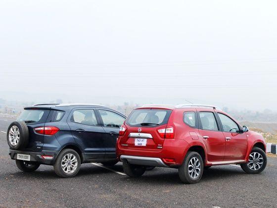 Ford EcoSport diesel vs Nissan Terrano diesel comparison
