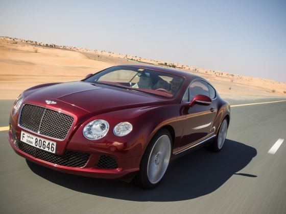 Bentley Continental GT Speed driving