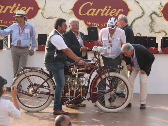 Best Motorcycle of the show, the 1915 Indian