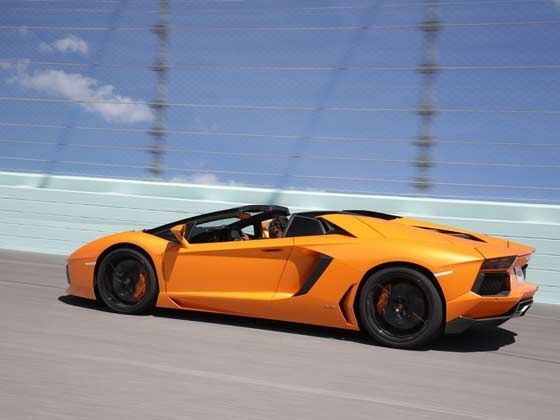 Lamborghini Aventador Roadster at the Homestead Speedway in Miami