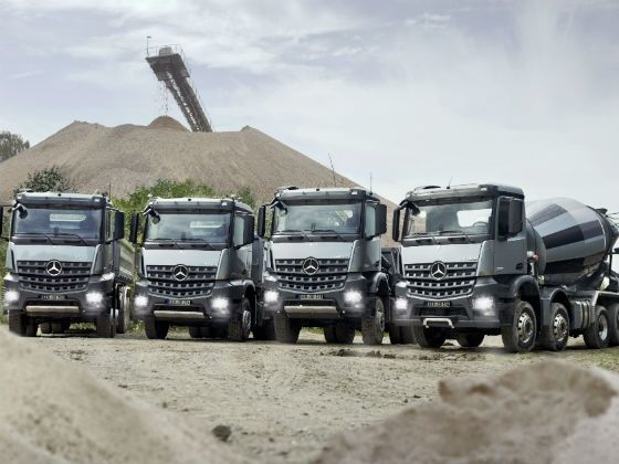 The Arocs range of trucks