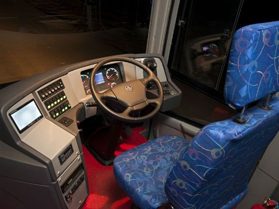 Driver cabin of the Metrolink