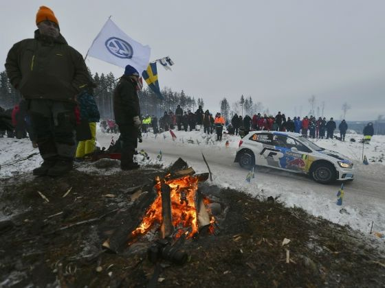 Volkswagen Polo R WRC at the 2013 Rally Sweden