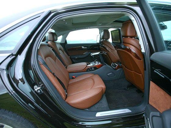Audi A8 L rear seating