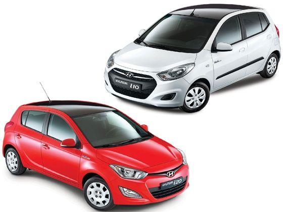 Hyundai i10 and i20 black pack editions