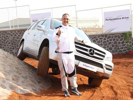 Eberhard Kern, Managing Director & CEO, Mercedes-Benz India launching the Mercedes-Benz Performance Drive Experience at Chakan, Pune