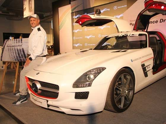 Eberhard Kern, Managing Director & CEO, Mercedes-Benz India launching the Mercedes-Benz Performance Drive Experience