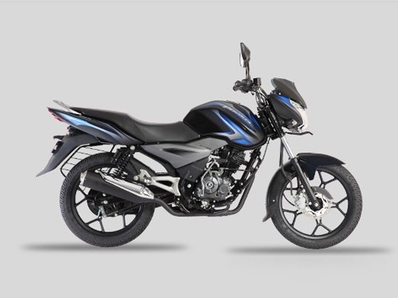 Bajaj Discover 125T in Midnight Black with blue decals