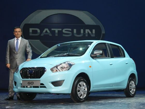 Carlos Ghosn, Nissan Motor President and CEO, at the unveiling of the Nissan GO in Delhi