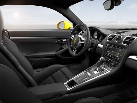 New Porsche Cayman S interiors