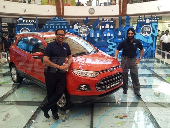 Ford EcoSport on display in Delhi