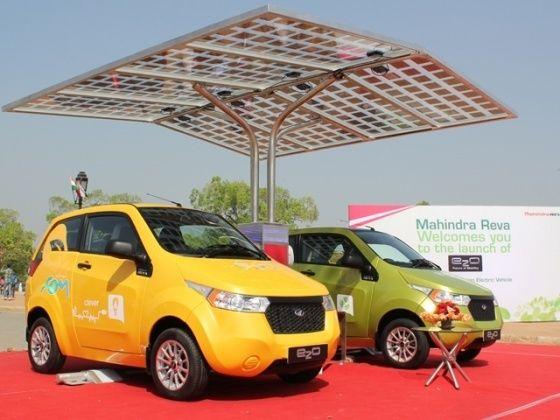Mahindra e2o charging station