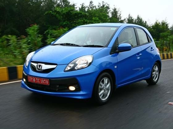 Honda Brio in action