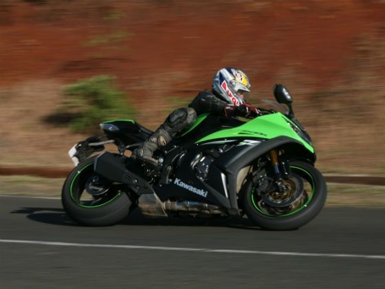 Kawasaki ZX-10R ABS action side shot