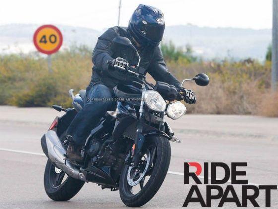 Triumph Street Triple with 250cc engine spy shot