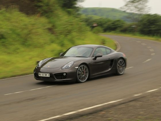 Porsche Cayman S front shot