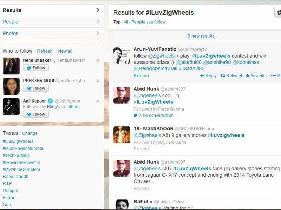 ILuvZigWheels hashtag trends on Twitter