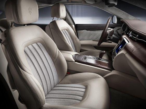 Maserati Quattroporte Ermenegildo Zegna Limited Edition interior shot