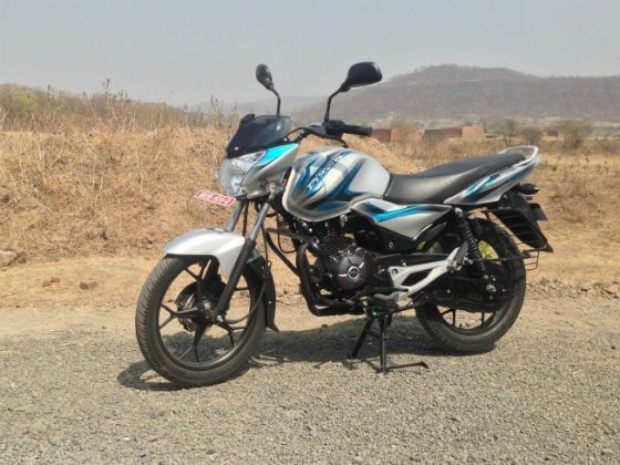Bajaj Discover 125M review front shot