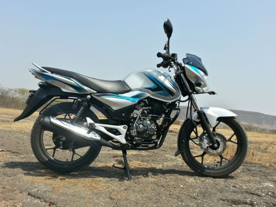 Bajaj Discover 125M review side shot