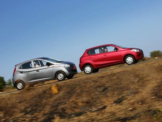 Datsun Go vs Hyundai Eon Comparison Side