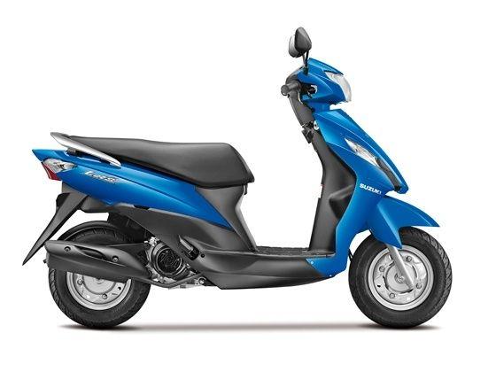 Suzuki Lets scooter side shot
