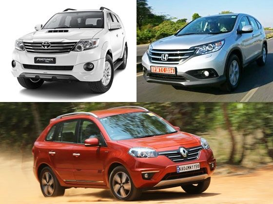 2014 Renault Koleos vs Toyota Fortuner vs Honda CR-V