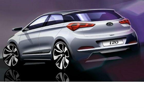 2014 Hyundai i20 rendering rear