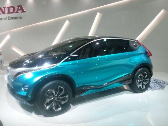 Honda third generation Jazz at 2014 Auto Expo