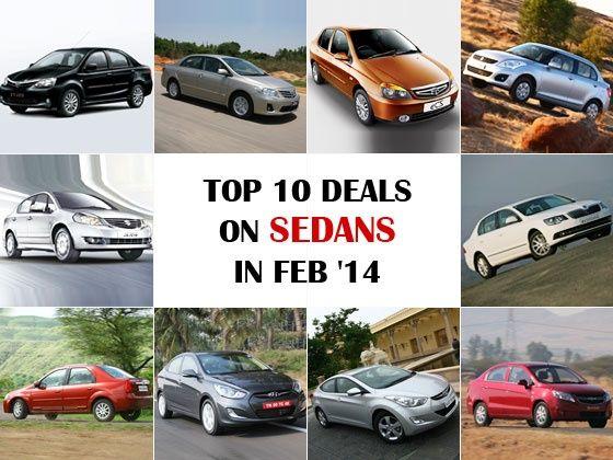 Top 10 deals on sedans in February 2014