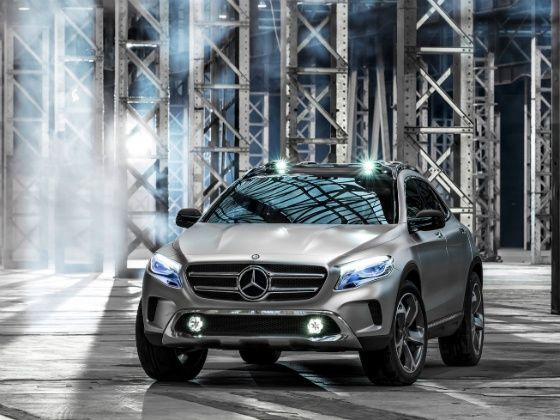 Mercedes-Benz at the 2014 Indian Auto Expo GLA Concept